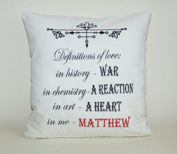 Definition of love cushion