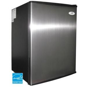 2.5 cu. ft. Mini Refrigerator in Stainless-RF-250SS at The Home Depot