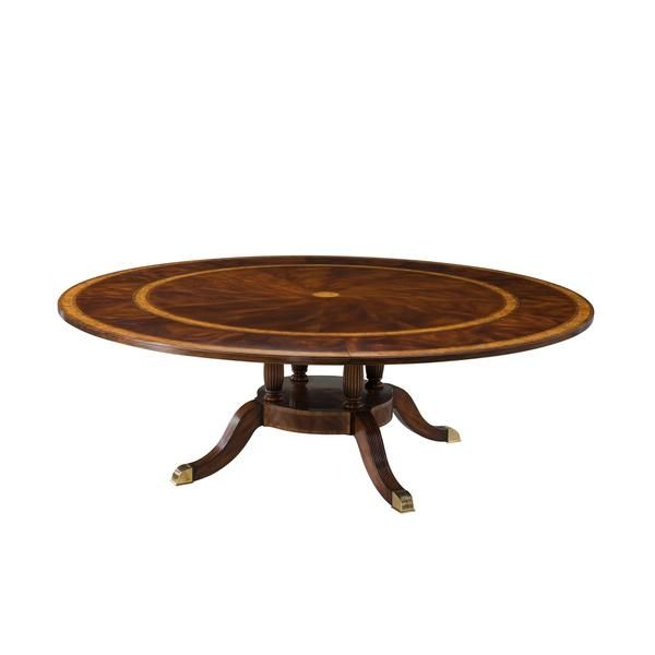Artur Extending Dining Table In 2019: Large Regency Round Extension Dining Table In 2019