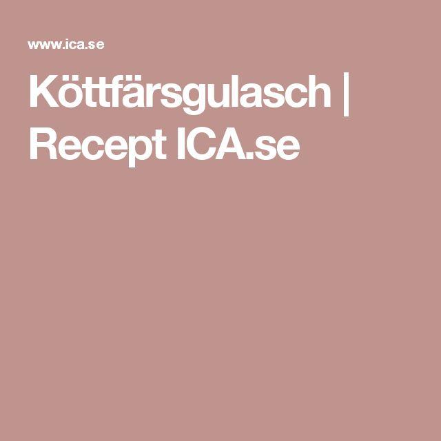 Köttfärsgulasch | Recept ICA.se