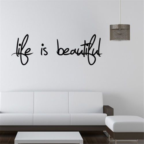 Life-Is-Beautiful-Simple-Words-To-Decorate-Your-Wall-Mural-Sticker-Removable