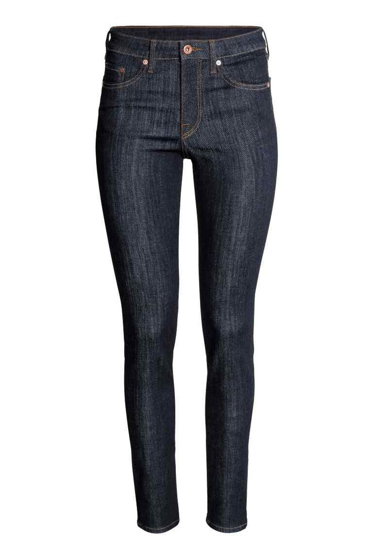 Skinny Regular Jeans - Dark denim blue - Ladies | H&M GB 1