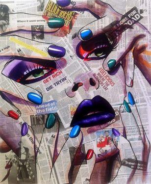 "Saatchi Art Artist Conrad Crispin Jones; Painting, ""Affliction"" #art"