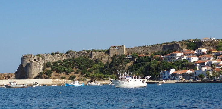 Arriving into Koroni after our trip from Porto Káyio