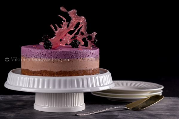 Торт Шоколадно-ежевичный