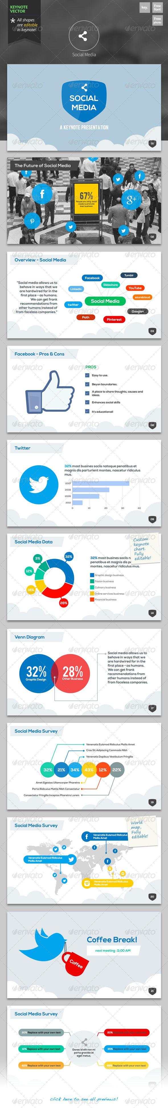 124 best keynote themes templates images on pinterest social media keynote template toneelgroepblik Choice Image