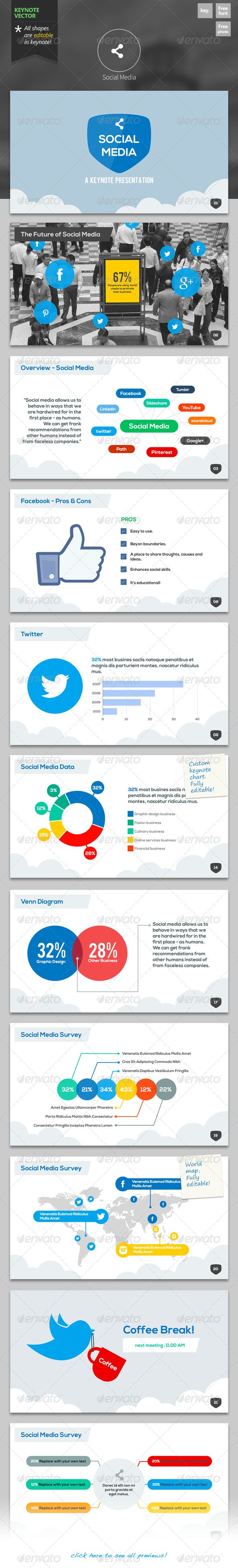 Social Media - Keynote Template | Keynote theme / template
