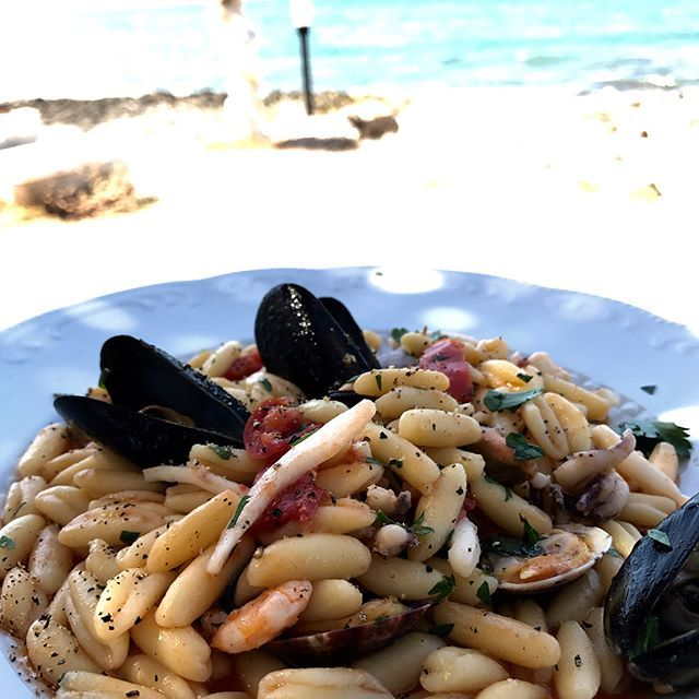Pictures from my lunch today!  #foodie #foodporn #follow #followme #foodphotography #seafood #webstagram #weareinpuglia #culinary #taste #palace #explore #travel #travelgram #travelphotography #pasta #sea #sealife