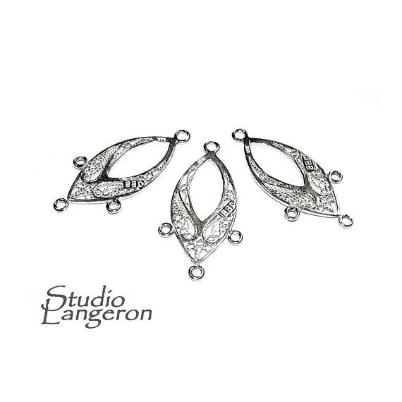 Vintage Style Connectors Antique Silver Art Deco Links Chandelier Earring Parts