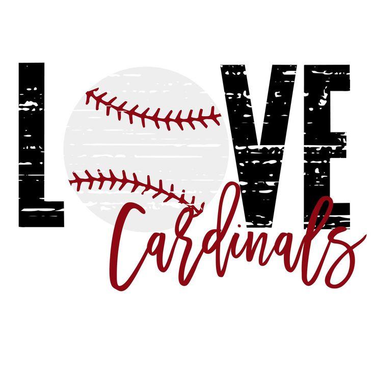 Download Love Cardinals Baseball Distressed SVG in 2020   Baseball ...