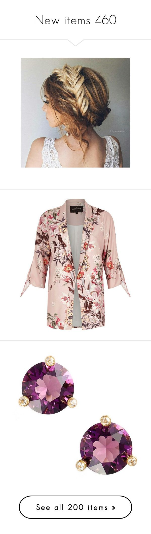 """""""New items 460"""" by cavallaro ❤ liked on Polyvore featuring accessories, outerwear, jackets, blazers, coats, chaqueta, floral-print bomber jackets, floral jackets, tall jackets and pink blazer"""