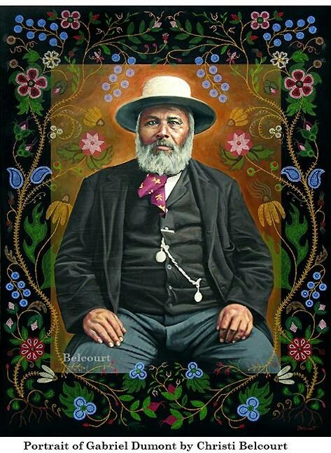 Portrait of Gabriel Dumont - Chippewa-Cree by Christi Belcourt (Metis)