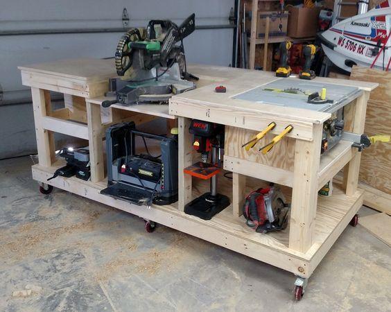 Mobile Workbench - PTC Creo Parametric,PTC Creo Parametric - 3D CAD model - GrabCAD | Woodworking Plans | Pinterest