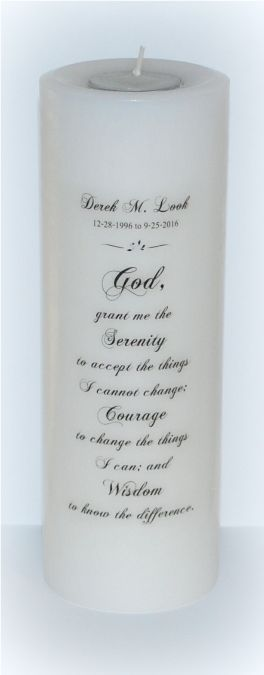 Personalized Inspirational Candle by Designs by DM Candles