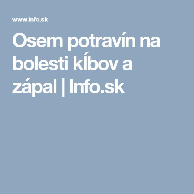 Osem potravín na bolesti kĺbov a zápal | Info.sk