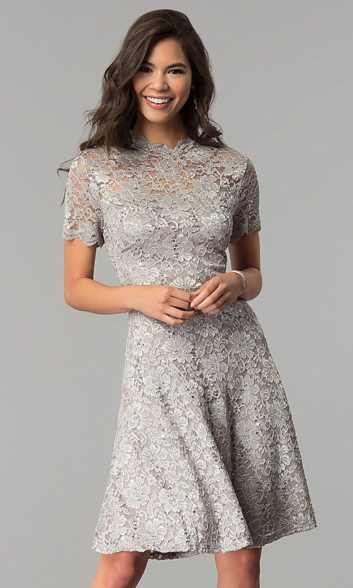 A Line High Neck Lace Wedding Guest Dress By Onyx Lace Wedding Guest Dress Guest Dresses Stunning Wedding Guest Dresses,Tween Dresses For Weddings