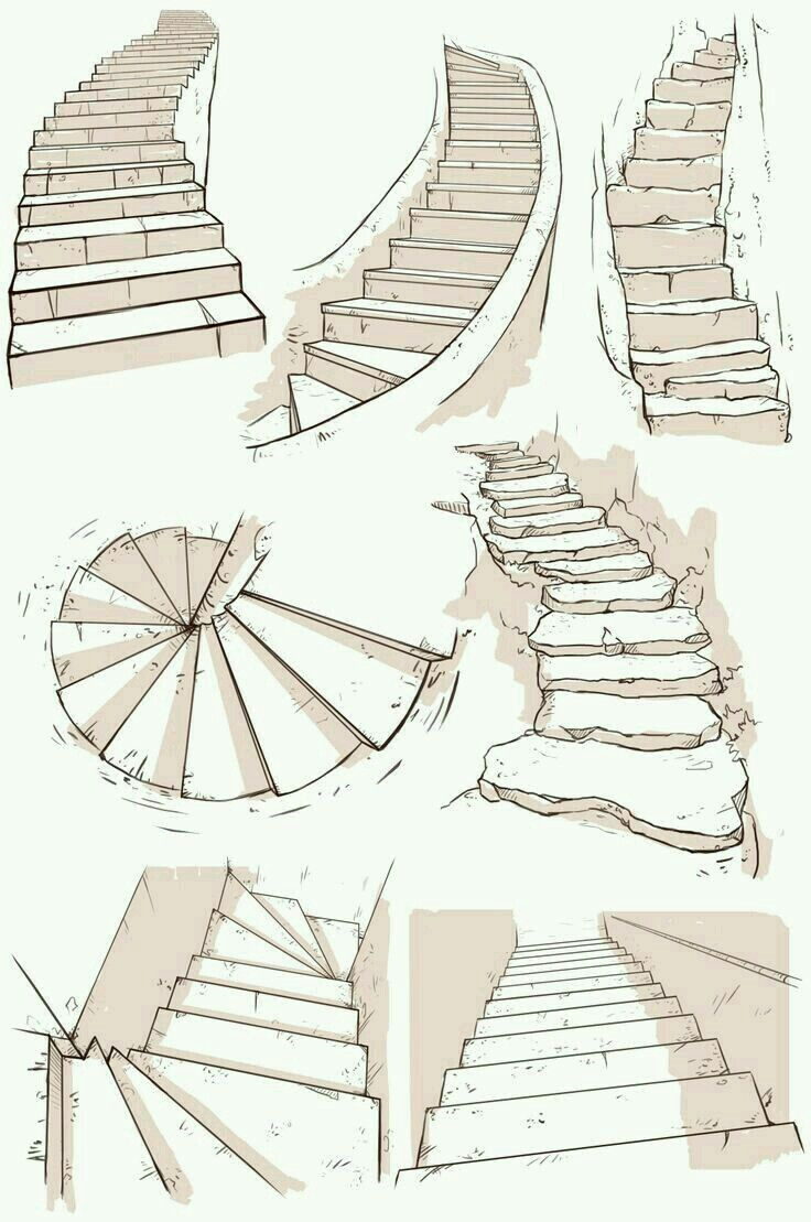 Stairs | Drawings in 2019 | Drawings, Drawing tips, Drawing techniques