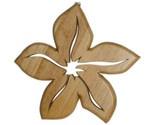 Wood Carved Tropical Flower Plumeria Blossom Hawaiian Trivet