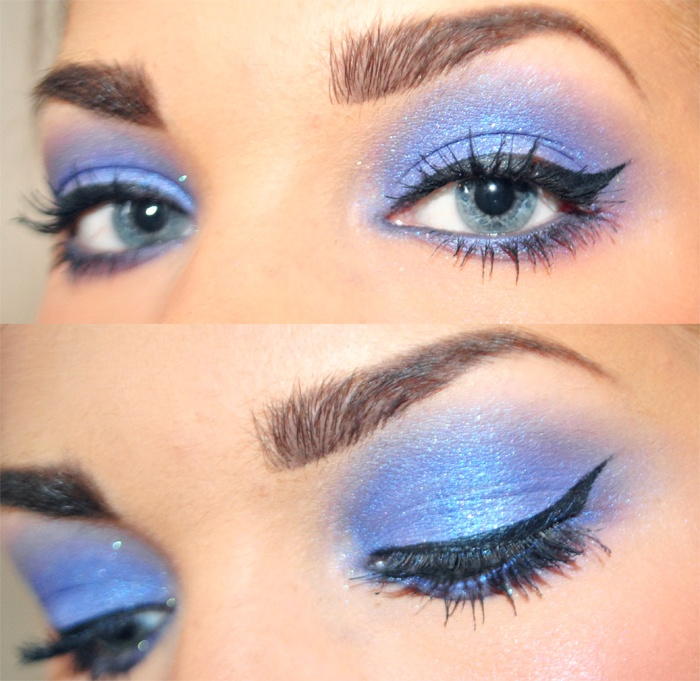 Shimmery Blue Hair Makeup Obsessions