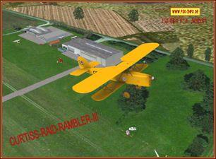 Curtiss Raid Rambler III DoppeldeckerFSX Freeware von Craig Richardson & Classic Wings