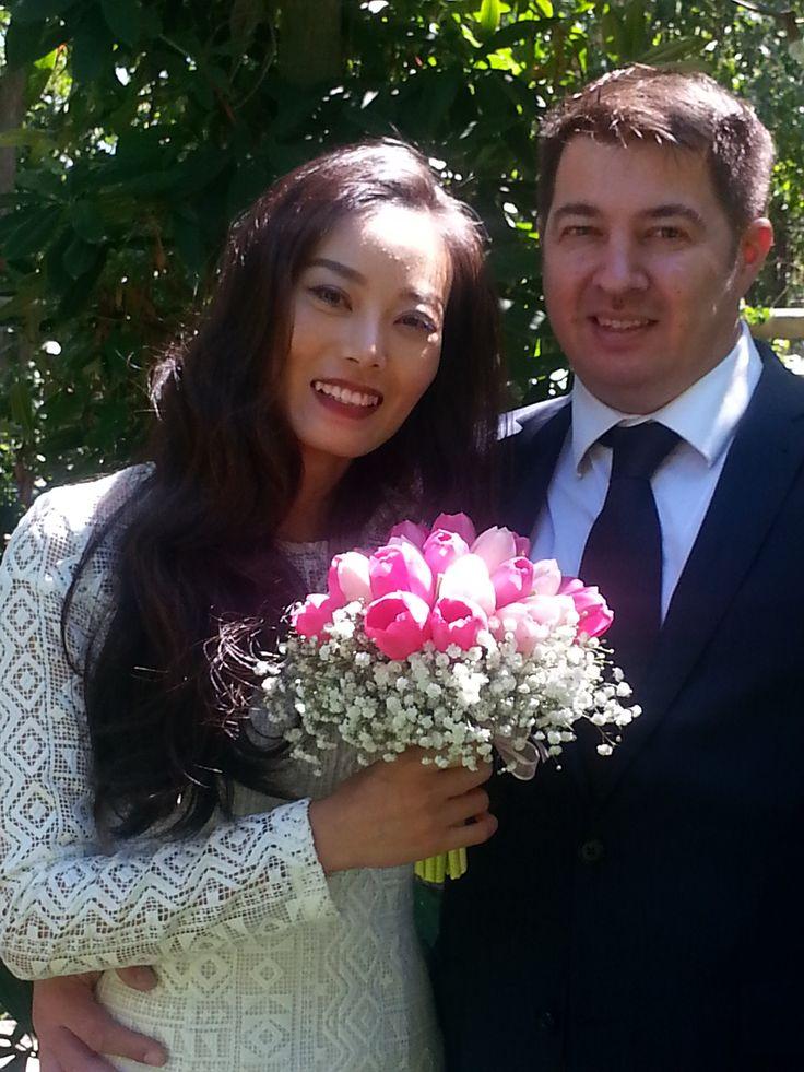 Lynn and Mat married in my Heart Garden in March