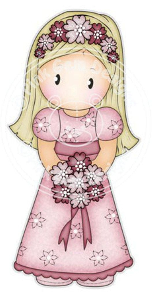 Digi Stamp Bridesmaid Chloe    Wedding Cards por PinkGemDesigns