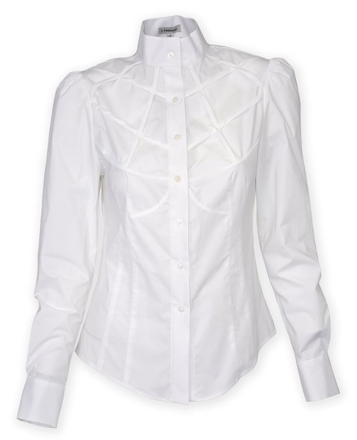 White high neck Victorian style blouse