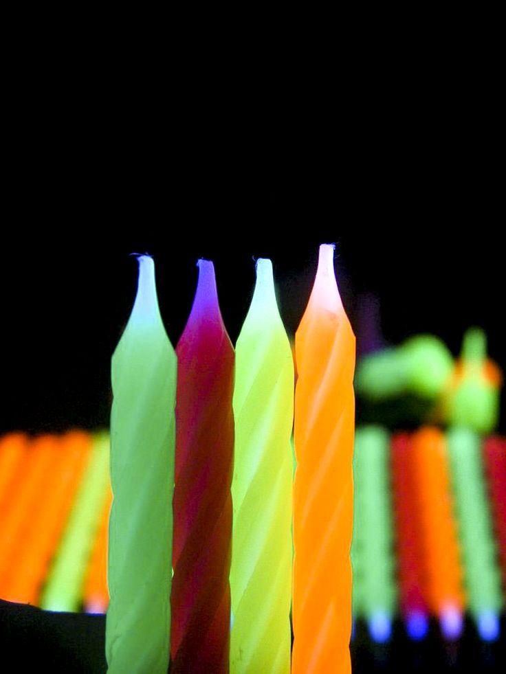 Schwarzlicht Neon Kerzen #blacklight #schwarzlicht #neon #candle