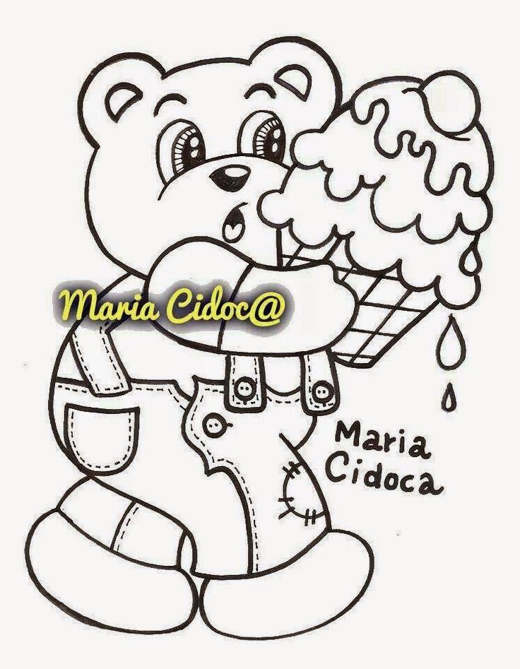 Riscos graciosos (Cute Drawings): Riscos de ursinhos e pandas (Bears, teddy…