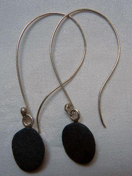 earrings - sterling silver/pebbles