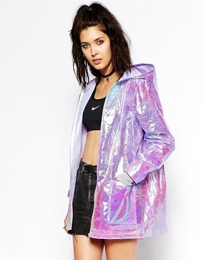 I want it and IDC what anyone else thinks, lol. Hooded Festival Rain Holographic Jacket
