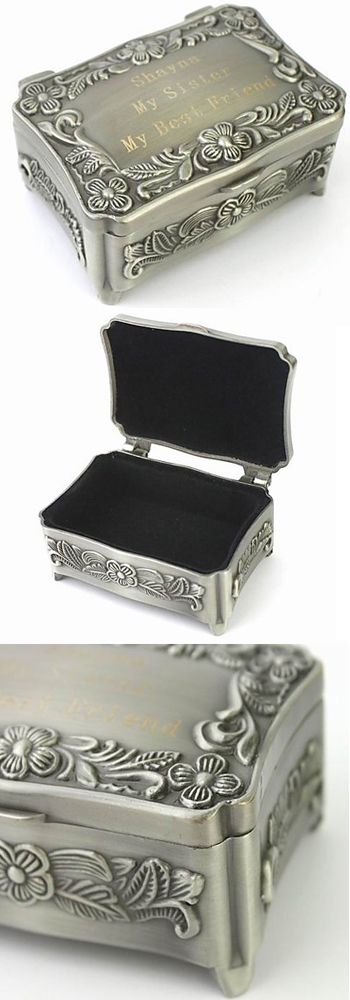 Unique Antique & Vintage Personalized Luxury Metal Jewelry, Trinket Box /Organizer with Velvet Ideas for Men, Women & Girls that are Big and comes with Art Craft Design. They are simple yet have a DIY, Old Wooden, Handmade / Homemade  Silver Boxes, Boho Organization Pattern which will not only act as storage 4 Rings / Necklace / Earrings / Jewels but also doubles as a Decoration. Perfect for Wedding Favors & Gifts on Bridal Party, Anniversary, Birthday, Baby Shower, Bridal Shower, valentines…