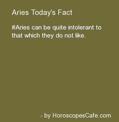 Aries Daily Fun Fact