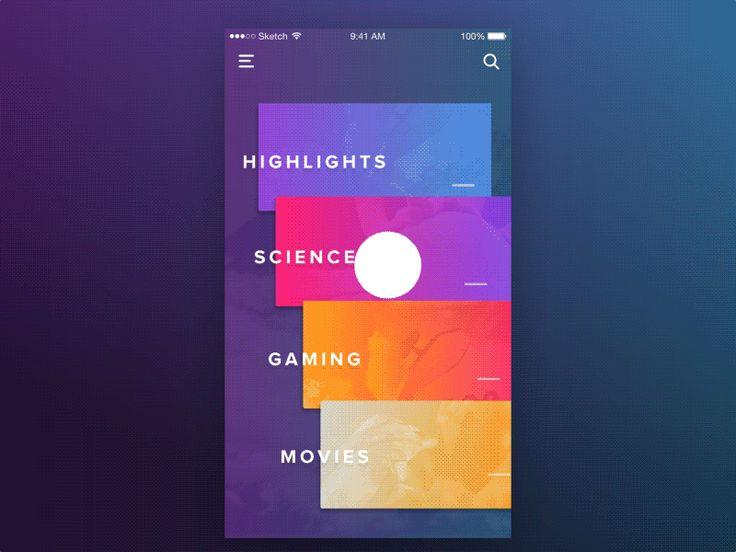 Google Newsstand Navigation Pattern by Aurélien Salomon  #Design Popular #Dribbble #shots