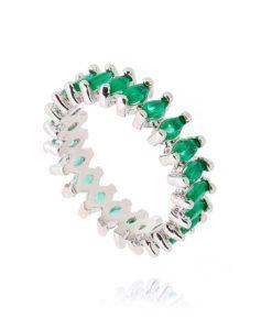alianca prata navetes com zirconias navetes esmeralda