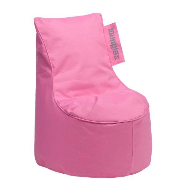 Loungies Junior zitzak stoel 70 cm - roze - afbeelding 1