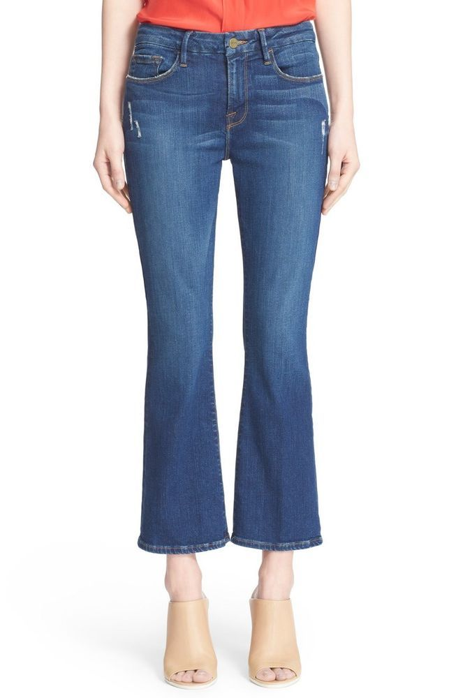 NWT FRAME DENIM LE CROP MINI BOOT PASADENA JEANS 29 #CurrentElliott #BootCutCapriCropped