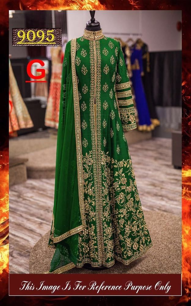 Anarkali Salwar Kameez Indian Pakistani Designer Party Wedding Dress P 9095 7. #FashionBazar #AnarkaliGown