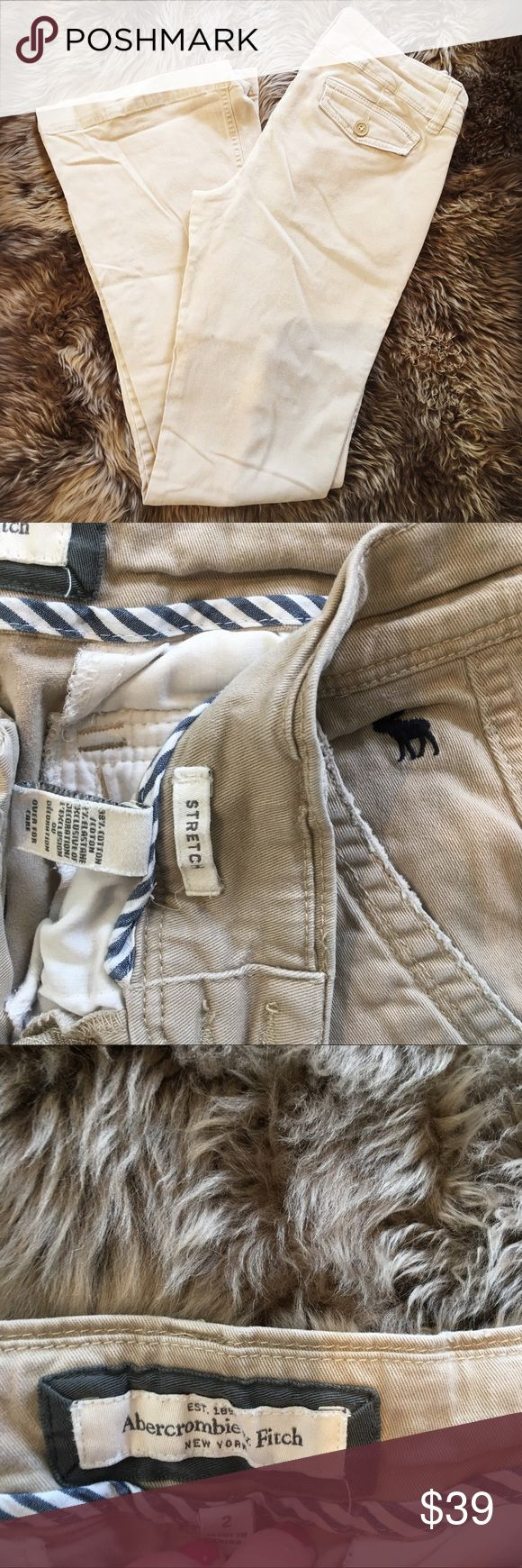 Abercrombie and Fitch Pants Abercrombie and Fitch tan slacks size 2 in excellent condition Abercrombie & Fitch Pants Trousers