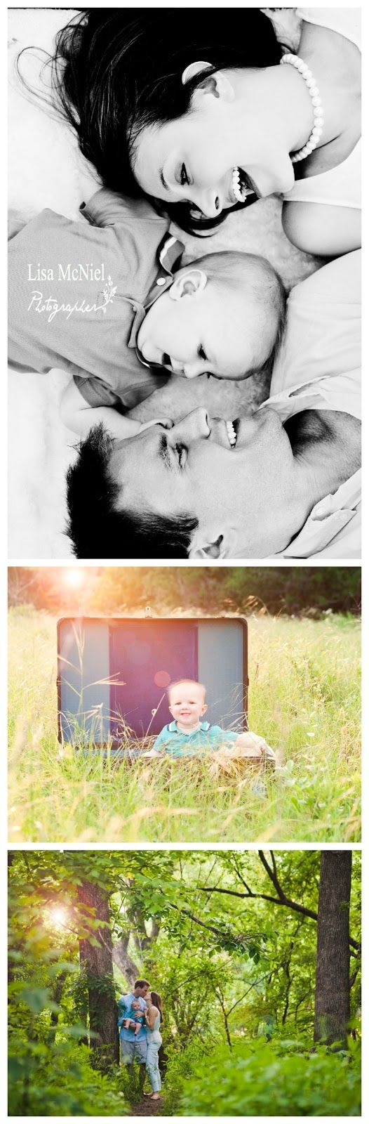 small family portraits, 6 six month pictures, field, sunflare, www.Lisa-Marie-Photography.com  Favorite: The top one!