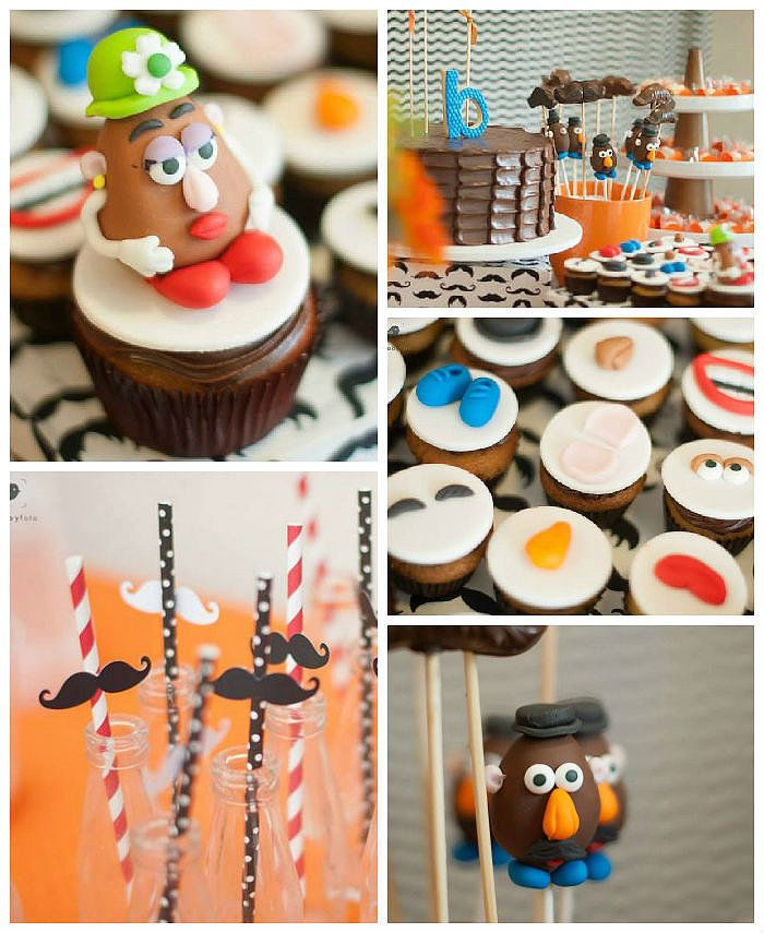 Tons of cute ideas for the most adorable Mr. Potato Head birthday party!