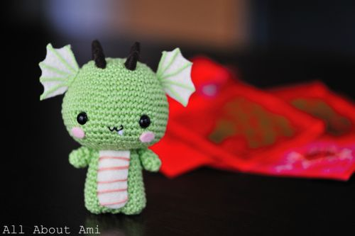 I'm going to be spending a lot of time making one in every color - Pattern: Dragon amigurumi