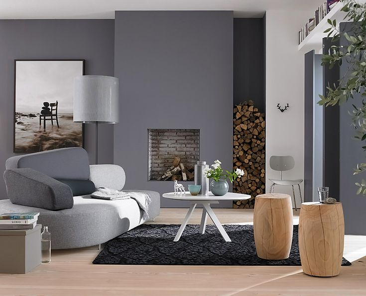 14 best graue wände images on Pinterest Live, At home and Grey walls - wohnzimmer wand grau