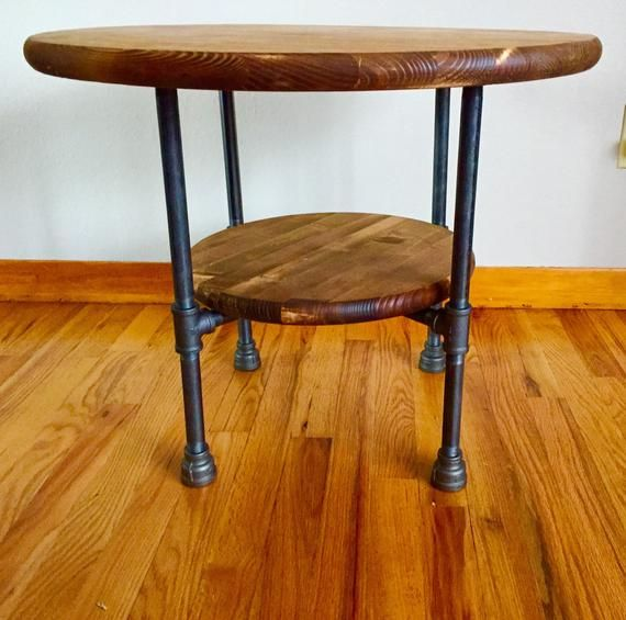 Image result for table with pipe legs diy round