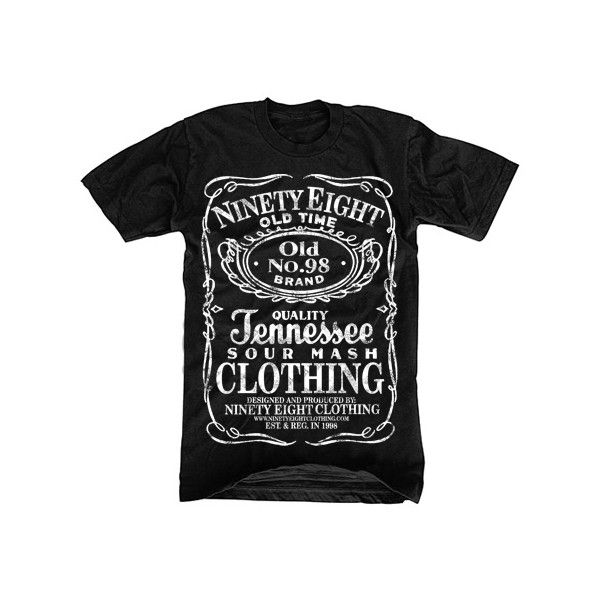 KOSZULKA NINETY EIGHT Jack Daniels hardcore S (693420528) - Aukcje... ❤ liked on Polyvore featuring tops, t-shirts, shirts, men, t shirts and shirts & tops