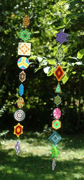 Fensterschmuck  Bügelperlen Mobile  von -Liliacea- bei DaWanda