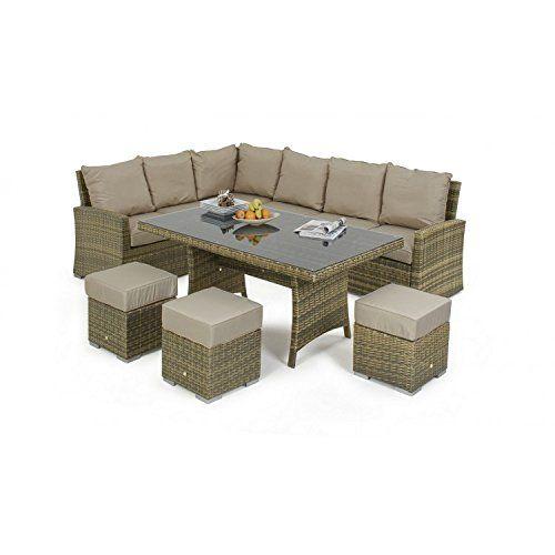 sienne rattan garden furniture kingston corner dining set