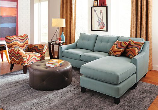 Cindy Crawford Home Madison Place Hydra 2 Pc Sectional
