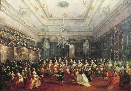 Francesco Guardi - Gala Concert given in January 1782 in Venice for the Tsarevich Paul of Russia and his wife, Maria Feodorovna
