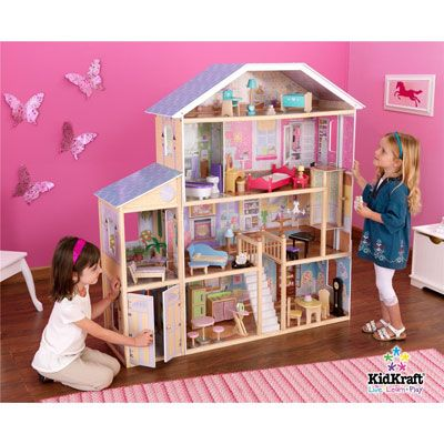 Majestic Barbie dollhouse by kidkraft is big, wooden and comes with furniture